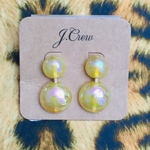 J Crew Yellow Iridescent Drop Earrings